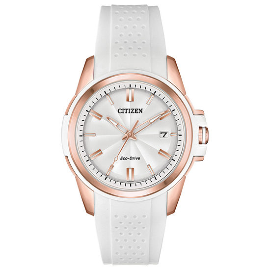 Drive from Citizen Womens White Strap Watch-Fe6136-01a