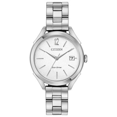 Drive From Citizen Womens Silver Tone Bracelet Watch Fe6140 54a Jcpenney