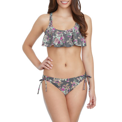 Arizona Floral Flounce Swimsuit Top-Juniors