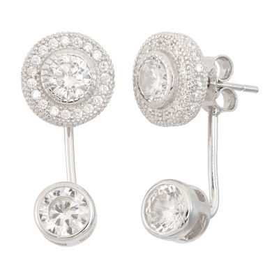 4 1/4 CT. T.W. White Cubic Zirconia Sterling Silver 20.3mm Stud Earrings