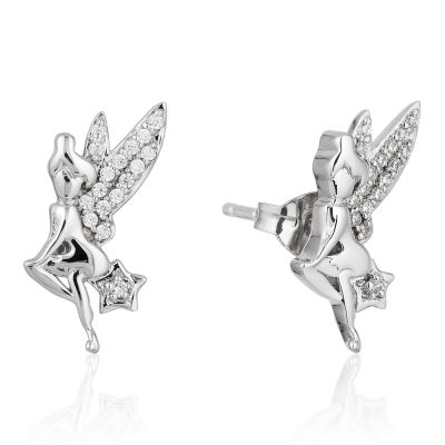 Enchanted Disney Fine Jewelry 1/10 CT. T.W. Genuine White Diamond Sterling Silver Butterfly Earring Sets