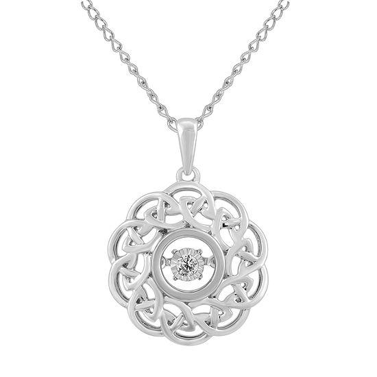 Enchanted Disney Fine Jewelry Womens Diamond Accent Genuine White Diamond Sterling Silver Brave Pendant Necklace