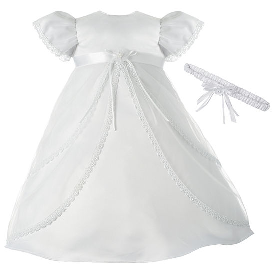 Keepsake Girls Short Sleeve Babydoll Dress - Baby