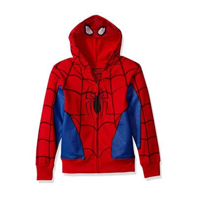 Boys 4-20 Costume Hoodies Spiderman Hoodie-Big Kid Boys