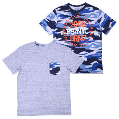 Ps Aeropostale Short Sleeve Round Neck 2 Pack T-Shirt-Big Kid Boys