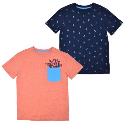 Ps Aeropostale Short Sleeve Round Neck 2 Pack T-Shirt-Big Kid Boys