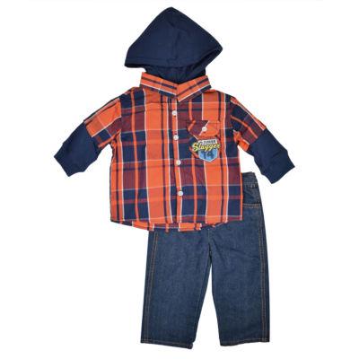 Toddler Boys 2-pc. Plaid Pant Set