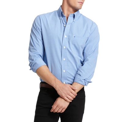 IZOD® Essential Woven Long Sleeve Shirt–Big & Tall
