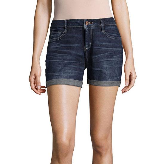 """Arizona 4 1/2"""" Roll Cuff Midi Shorts-Juniors"""