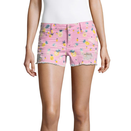 "Arizona 2 1/2"" Pineapple Shorts-Juniors"