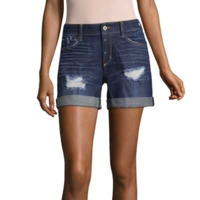 "Arizona 6"" Boyfriend Fit Denim Bermuda Shorts-Juniors"