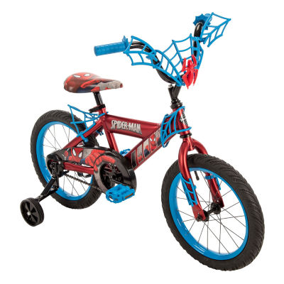 "Huffy Marvel Spider-Man 16"" Bike with WebTrap Handlebar Plaque"