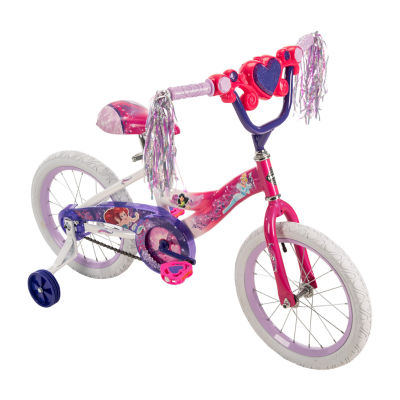 "Huffy Disney Princess 16"" Bike with Handlebar Magic Mirror"