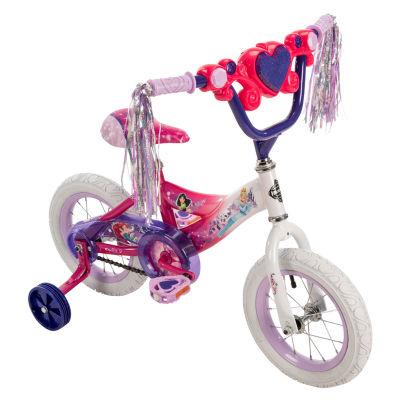 "Huffy Disney Princess 12"" Bike with Handlebar Magic Mirror"