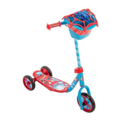 Huffy Marvel Spider-Man 3-Wheel Scooter with Handlebar Bag