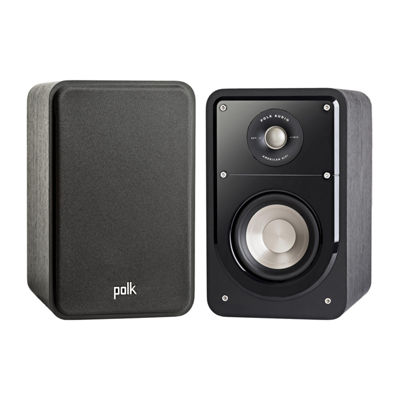Polk Audio Signature S15 American HiFi Home Theater Compact Bookshelf Speakers - Pair - Black