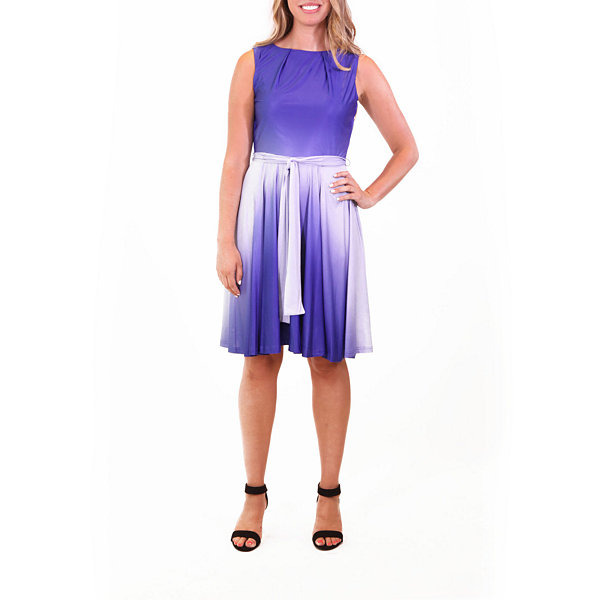 Nina Leonard Circle Dress In Ombre