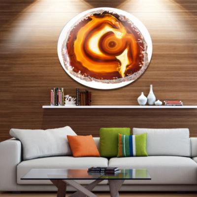 Design Art Vibrant Agate Geode Slice Large Abstract Metal Artwork