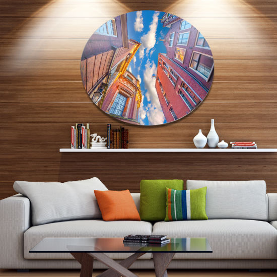 Design Art Authentic Dutch Architecture Extra Large Metal Circle Wall Art