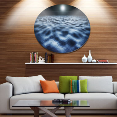Design Art Night With Fool Moon in Sky Large Landscape Metal Circle Wall Art