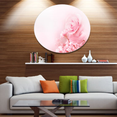 Design Art Beautiful Rose In Magic Light PortraitMetal Circle Wall Art