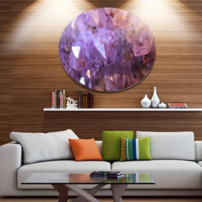 Design Art Purple White Natural Amethyst Geode Large Abstract Metal Artwork