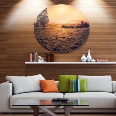 Design Art Field of Dreams Panorama Landscape Metal Circle Wall Art