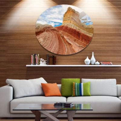 Design Art Paria Plateau in Northern Arizona Landscape Metal Circle Wall Art