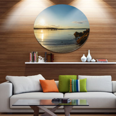 Design Art Carters Beach Nova Scotia Canada Seashore Metal Circle Wall Art