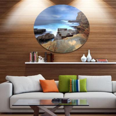 Design Art Terrigal Skillion NSW Australia Seashore Metal Circle Wall Art
