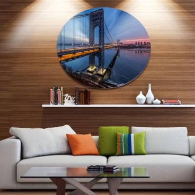 Design Art George Washington Bridge Large Cityscape Art Print on Metal Walls