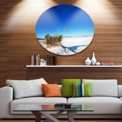 Design Art White Sands Park in Usa Disc LandscapeCircle Metal Wall Decor