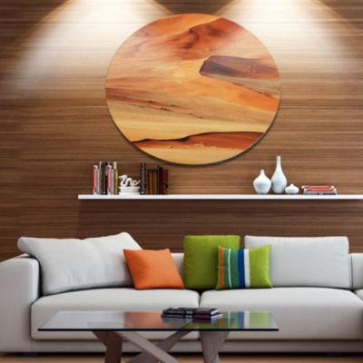Design Art Beautiful Brown Sand Desert Landscape Wall Art on Metal Wall