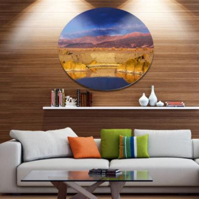 Design Art Beautiful Northern Argentina View Oversized African Landscape Oversized Circle Metal Artwork