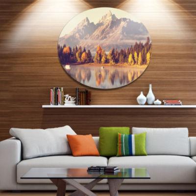 Design Art Grand Teton National Park Oversized Landscape Metal Circle Wall Art