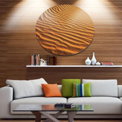 Design Art Beautiful Sand Desert Dunes Disc African Landscape Circle Metal Wall Decor