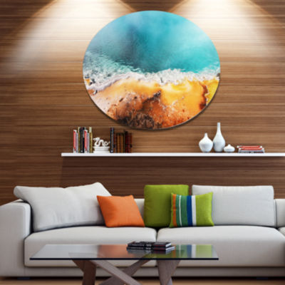 Design Art Beautiful Morning Glory Pool OversizedLandscape Oversized Circle Metal Artwork