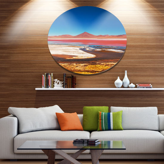 Design Art High Mountains in Bolivia Disc Landscape Wall Art on Metal Wall