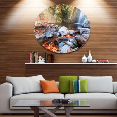 Design Art Beautiful Serenity Waterfall in CyprusLandscape Wall Art on Metal Wall
