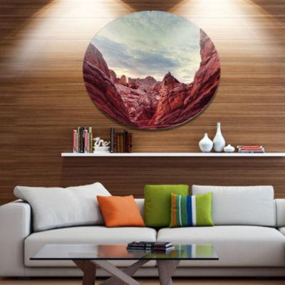 Design Art Vermillion Cliffs National Monument Park Landscape Wall Art on Metal Wall