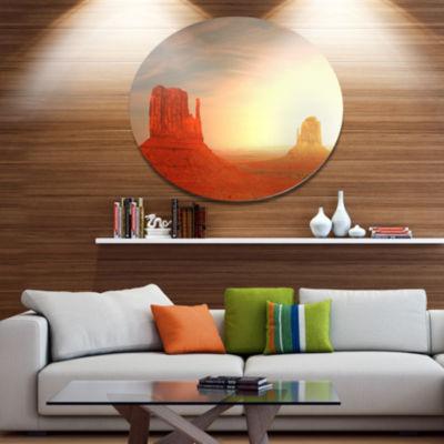 Design Art Monument Valley Utah Usa Disc LandscapeCircle Metal Wall Decor