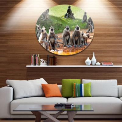 Design Art Monkeys in Sri Lanka African Metal Circle Wall Art