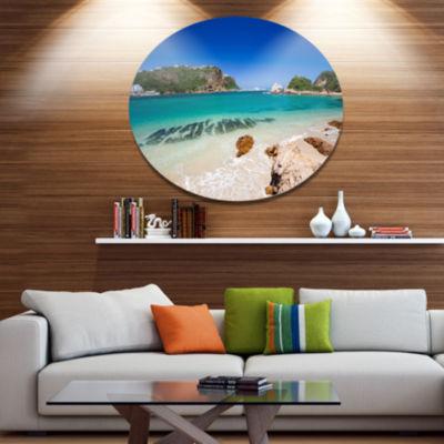 Design Art Beautiful Knysna Beach South Africa Large Seashore Metal Circle Wall Art