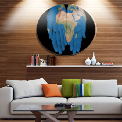 Design Art African Map in Our Hands Abstract MetalArtwork