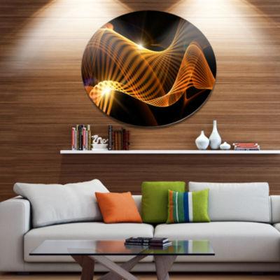 Design Art Yellow 3d Shaped Fractal Design Contemporary Abstract Wall Art