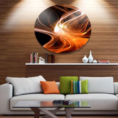 Design Art Orange 3d Shaped Fractal Design Contemporary Abstract Wall Art