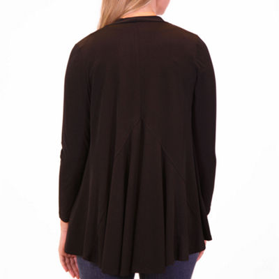 Nina Leonard Long Sleeve Godet Back Cardigan