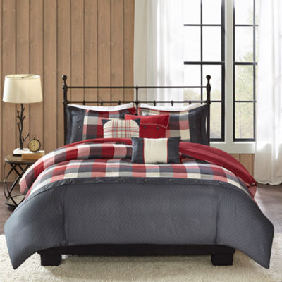 Madison Park Pioneer 6-pc. Herringbone Duvet Cover Set