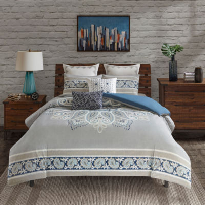 INK+IVY Sky Cotton 3-pc. Comforter Mini Set