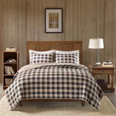 Woolrich Buffalo Check Cotton 3-pc. Quilt Set